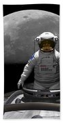 An Astronaut Takes A Last Look At Earth Bath Towel