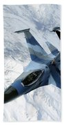 An F-16 Aggressor Sits In Contact Hand Towel