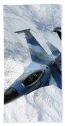 An F-16 Aggressor Sits In Contact Bath Towel