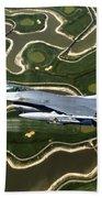 An F-16 Fighting Falcon Flies Near Base Bath Towel