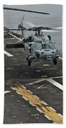 An Mh-60s Sea Hawk Lands Aboard Bath Towel