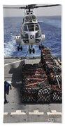 An Sa-330j Puma Helicopter Picking Bath Towel