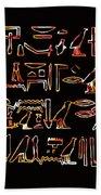 Ancient Egyptian Hieroglyphs Bath Towel