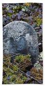Ancient Gravestone. Hand Towel