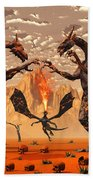 Ancient Lava Dragons Born Of Fire Bath Towel