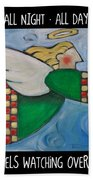 Angel Flight Poster Bath Towel