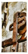 Antique - Door Rail - Rusty Bath Towel