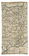Antique Map Of Spain Bath Towel