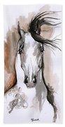 Arabian Horse Ink Drawing 2 Bath Towel