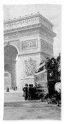 Arc De Triomphe - Paris France - C 1898 Bath Towel