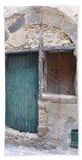 Arched Stone Work Over Door Bath Towel