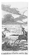 Argentina: Gauchos, 1853 Bath Towel
