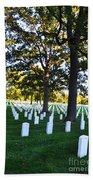 Arlington Cemetery Graves Bath Towel