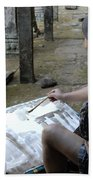 Artist At Ankor Wat Bath Towel