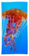 Ascending Jellyfish Bath Towel