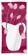 Ashes Of Roses Tulips Bath Towel