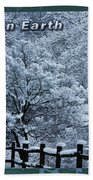 Asheville Peace Card Bath Towel