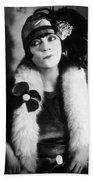 Asta Nielsen (1881-1972) Bath Towel