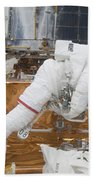Astronaut Working On The Hubble Space Bath Towel