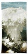 Atomic Bombing Of Nagasaki Bath Towel