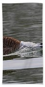 Attack Of The Canadian Geese Bath Towel