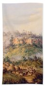 Attack On Stocks Kraall In The Fish River Bush Bath Towel