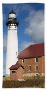Au Sable Lighthouse 3 Bath Towel