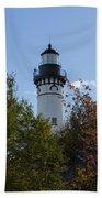 Au Sable Lighthouse 8 Bath Towel