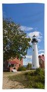 Au Sable Lighthouse 9 Bath Towel