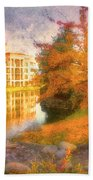 Autumn And Architecture Bath Towel