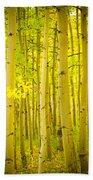 Autumn Aspens Vertical Image  Bath Towel