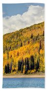 Autumn At Huntington Reservoir - Wasatch Plateau - Utah Bath Towel