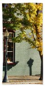 Autumn Detail In Old Town Grants Pass Bath Towel