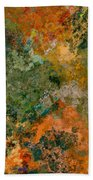 Autumn Forest Tree Tops Abstract Bath Towel