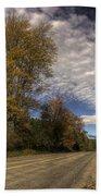 Autumn Highway Bath Towel