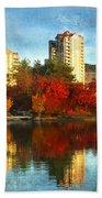 Autumn In The City Bath Towel