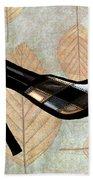 Autumn Leaves Stilettos Bath Towel