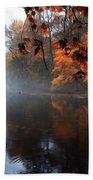 Autumn Morning By Wissahickon Creek Bath Towel