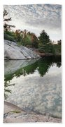 Autumn Nature Lake Rocks And Trees Bath Towel