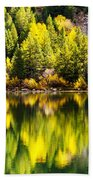 Autumn Reflection In Georgetown Lake Colorado Bath Towel