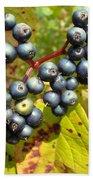 Autumn Viburnum Berries Series #3 Bath Towel