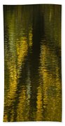 Autumn Water Reflection Abstract I Bath Towel