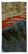 Autumn Waterfall Reflections Bath Towel