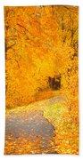 Autumn's Golden Corner Bath Towel