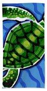 Baby Green Sea Turtle Hand Towel