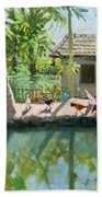 Backwaters India  Bath Towel