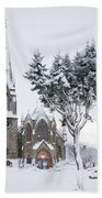 Ballater Church In Snow Bath Towel
