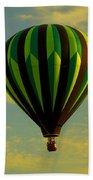 Balloon Ride Through Gold Clouds Bath Towel