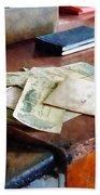 Bank Checks Dated 1923 Bath Towel