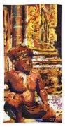 Banteay Srei Statue Bath Towel